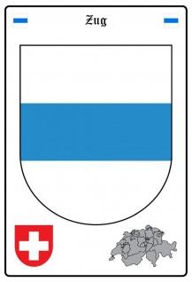 Blechschild Zug Wappen Metallschild Wanddeko 20x30 cm tin sign