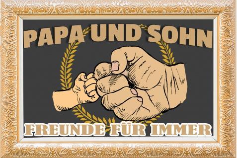 Blechschild Spruch Papa und Sohn Metallschild Wanddeko 20x30 cm tin sign