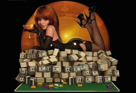 Casino poker tisch chips geld pin up sexy frau auf geld blechschild