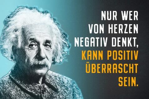 Blechschild Spruch Einstein Nur wer von Herzen Negativ Metallschild Wanddeko 20x30 cm tin sign