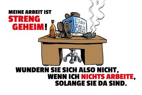 """"""" Meine Arbeit Ist Streng geheim?"""" spruchschild, lustig, comic, blechschild, dekoschild, metallschild"""