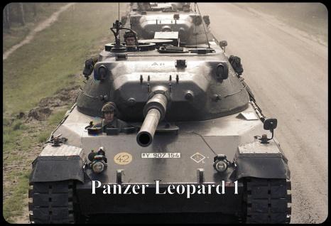 Blechschild Panzer Leopard I Metallschild Wanddeko 20x30 tin sign