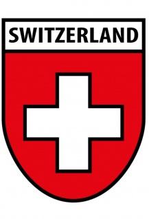 Switzerland Wappen Schweiz Blechschild 20x30 cm