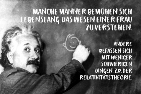 Blechschild Spruch Manche Männer bemühen Einstein Metallschild Wanddeko 20x30 cm tin sign