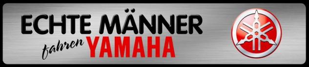 Echte Männer fahren Yamaha Parking Auto Car Blechschild 46x10 cm