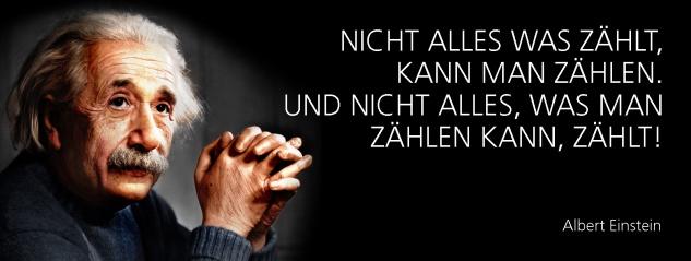 Blechschild Spruch Nicht alles was zählt, kann man zählen. Und nicht alles, was man zählen kann, zählt! -Einstein- Metallschild 27x10 cm Wanddeko tin sign