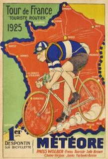 Nostalgie: Tour de France 1925 Frankreich Blechschild 20x30 cm