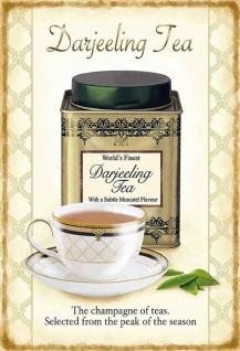 Darjeeling Tea Metallschild Wanddeko 20x30 cm tin sign