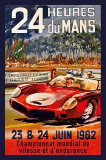 Retro: 24h Le Mans 1962 Blechschild 20x30 cm - Vorschau 1