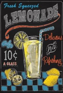 Fresh Lemonade schwarz hintergrund blechschild