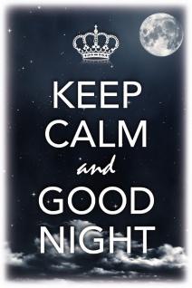 Schatzmix Blechschild Keep Calm & Good Night Metallschild 20x30 cm Wanddeko tin sign