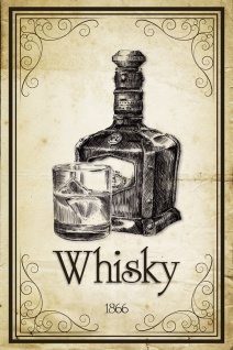 Schatzmix Blechschild Whisky 1866 Metallschild 20x30 cm Wanddeko tin sign