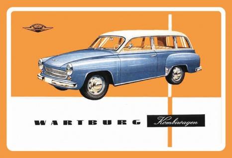 Wartburg kombiwagen oldtimer auto blechschild