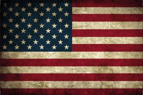 Länder Fahne - USA - National Flagge United States of America / Amerika blechschild, dekoschild, retro