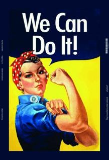 We Can Do It frau Woman blechschild
