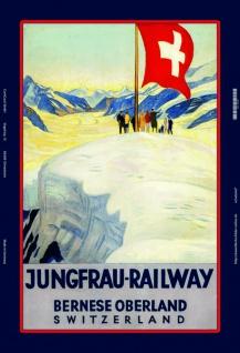 Jungfrau Railway Schweiz Bern Oberland blechschild