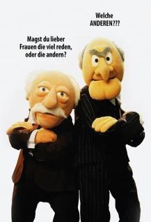 Blechschild Spruch Muppet Show Magst Du lieber Frauen... Metallschild Wanddeko tin sign