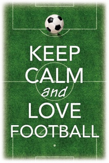 Keep Calm and love Football Blechschild 20x30 cm