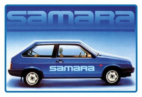 Blechschild Auto Lada Samara Metallschild Wanddeko 20x30 cm tin sign