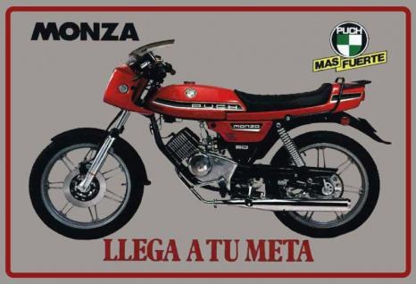 Puch Monza motorrad motorcycle blechschild