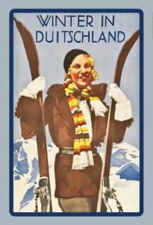 Nostalgie: Winter in Deutschland Blechschild 20x30 cm