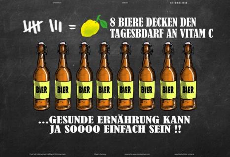 Blechschild 8 Biere Tagesbedarf Vitamin C Metallschild Wanddeko 20x30 tin sign