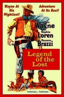 Blechschild John Wayne Legend of the Lost Filmplakat Metallschild 20x30 cm Wanddeko tin sign