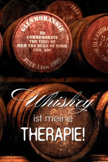 Whiskey ist meine Therapie! Whisky Lustig spruch blechschild