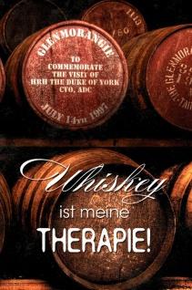Whiskey ist meine Therapie! Whisky Spruchschild Blechschild 20x30 cm