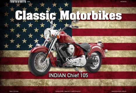 Indian Chief 105 USA Classic Motorrad Blechschild