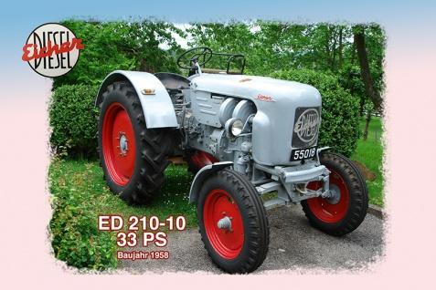Eicher ED210-10 33PS 1958 tracktor trekker blechschild
