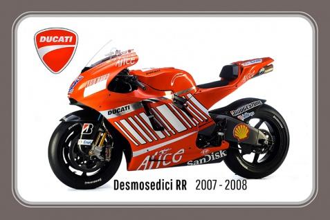 Ducati Desmosedici RR 2007-2008 188PS motorrad, motor bike, motorcycle blechschild