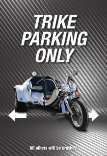 Trike Parking only blechschild, parkschild, tin sign, metallschild, deko,