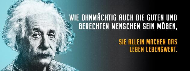 Blechschild Einstein: Gute und gerechte Menschen Metallschild Wanddeko 27x10 cm tin sign