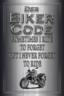 Schatzmix Blechschild Motorrad Biker Code Sometimes I ride Metallschild 20x30 cm Wanddeko tin sign