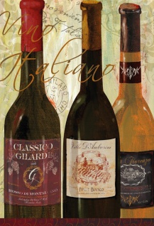Vino italiano Wein aus Italien alkohol wine blechschild