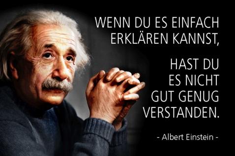 Blechschild Spruch Einstein Wenn du es einfach Metallschild Wanddeko 20x30 cm tin sign