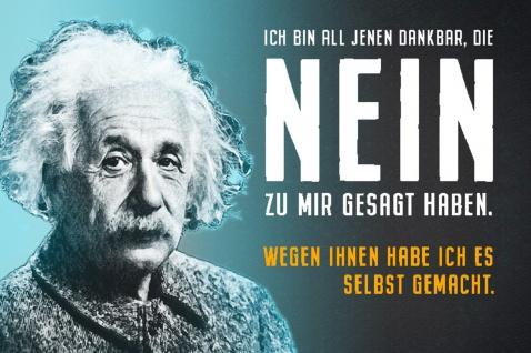 Blechschild Spruch Bin all jenen dankbar A.Einstein Metallschild Wanddeko 20x30 cm tin sign