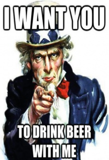 I want you to drink beer with me alkohol blechschild