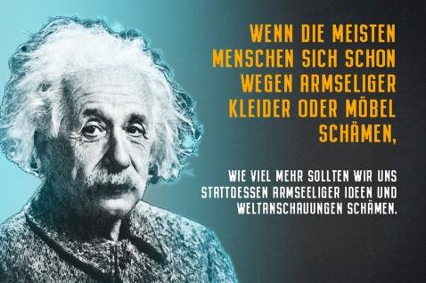 Blechschild Spruch Wenn die Menschen sich schon A.Einstein Metallschild Wanddeko 20x30 cm tin sign