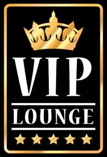 Blechschild VIP Lounge Metallschild Wanddeko 20x30 cm tin sign