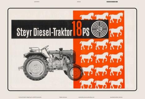 Steyr diesel 18 Ps traktor Trekker Schlepper blechschild