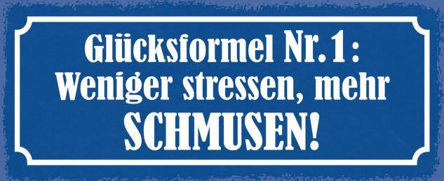Blechschild Spruch Glücksformel Nr. 1 Metallschild Wanddeko 27x10 cm tin sign