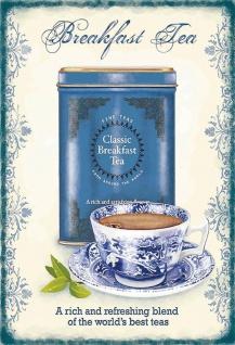 Classic Breakfast tea frühstucks tee blechschild