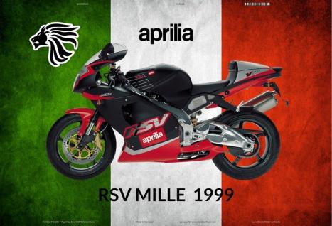 Aprilia RSV Mille 1999 Italien motorrad blechschild