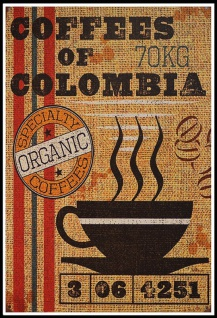 Coffees of Colombia Speciality coffees blechschild