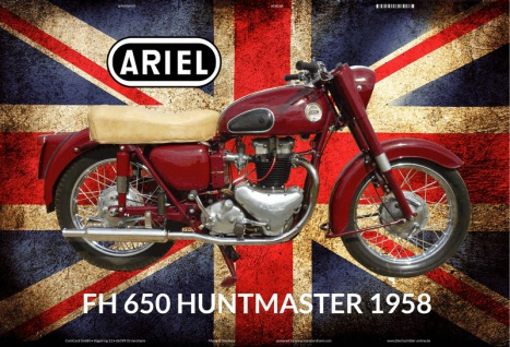 Ariel FH 650 huntmaster 1958 UK motorrad blechschild