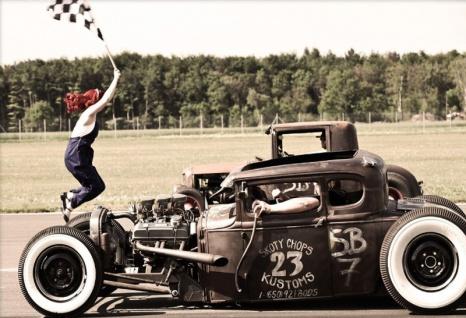 """Pin up """"Start the Race"""" Oldtimer Blechschild 20x30 cm"""