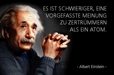 Blechschild Spruch Einstein Vorgefasst Meinung Metallschild Wanddeko 20x30 cm tin sign