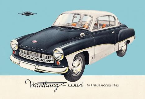 Wartburg Coupe 1962 auto blechschild